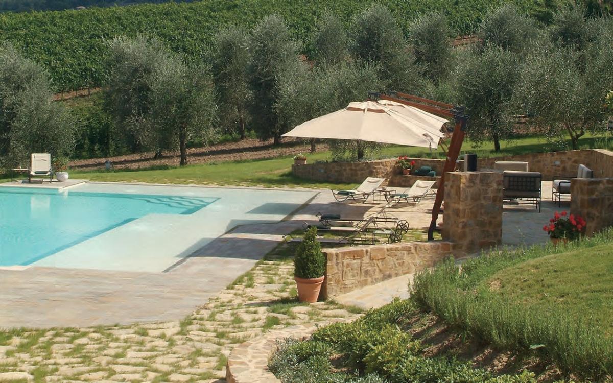 Villa esterno piscina